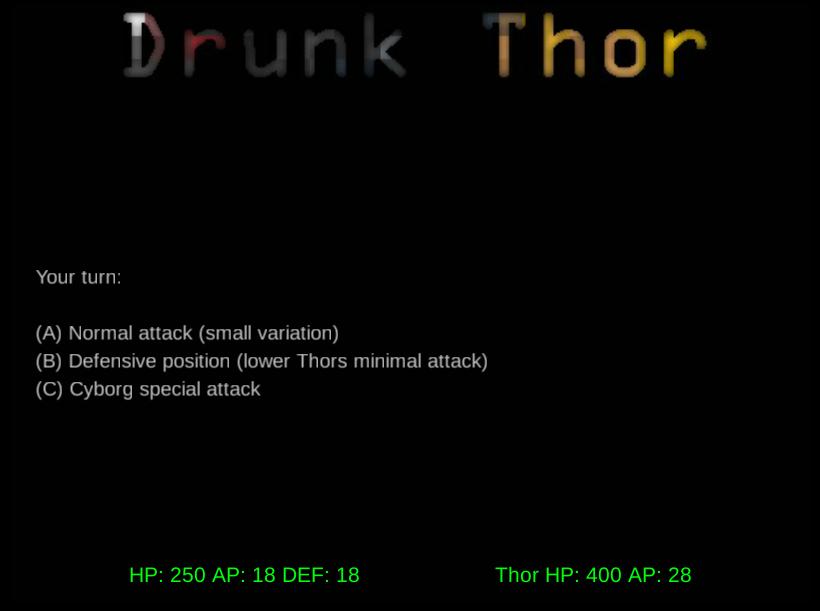 Drunk Thor