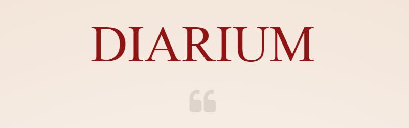 Diarium – Mein Lieblingshobbyprojekt auf Eis