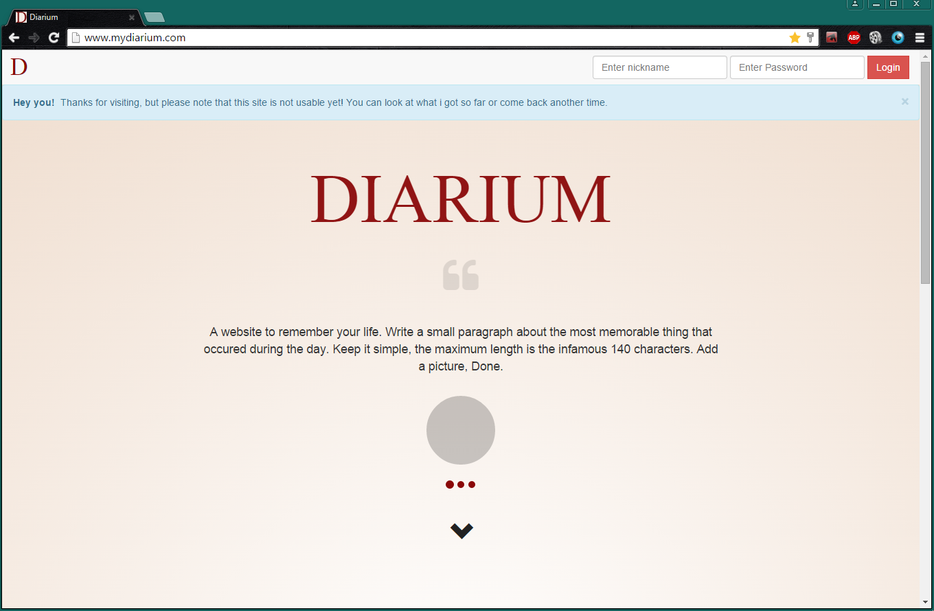 Diarium Screenshot