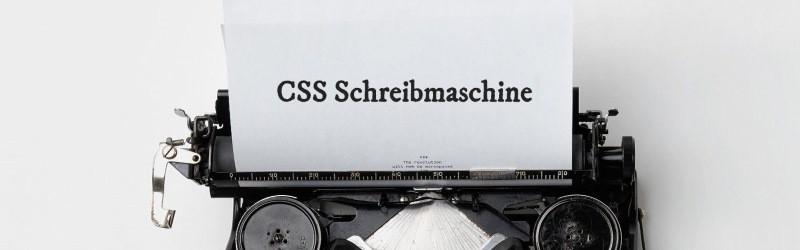 CSS Schreibmaschineneffekt