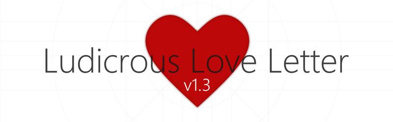 Ludicrous Love Letter speichert jetzt erstellte Stories!